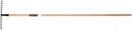 Грабли универсальные деревянный черенок Solid™ 135751 - фото