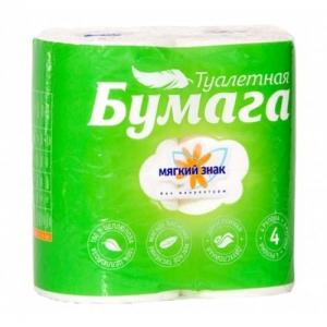 """Туалетная бумага 2-сл """"Мягкий знак"""" 4шт - фото"""
