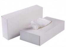 Салфетки 2-сл в коробочке для лица белые - фото