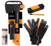 Набор: Топор Х7 + точилка + воблер + перчатки + внешний аккумулятор 1023999 - фото