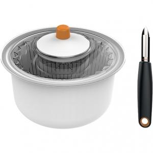 Сушилка-мойка для зелени с вращающейся корзиной-дуршлагом+ нож 1014432 - фото