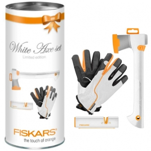 Набор: топор малый Solid, точилка Xsharp, перчатки раз-р 10 - фото
