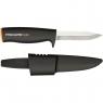 Набор: Топор X7-XS + пила SW73 + нож универсальный садовый + точилка + сумка для инструментов 129039+120740 - фото